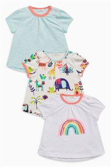 Rainbow T-Shirts Three Pack (0mths-2yrs)