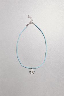 Sister Engraved Cord Detail Bracelet