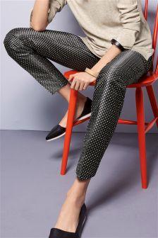 Geo Jacquard Cigarette Trousers