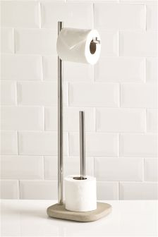 Stone Resin Effect Toilet Roll Stand And Store