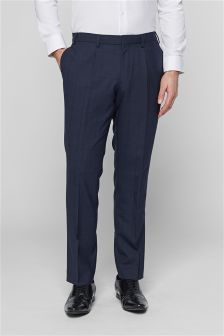 Windowpane Check Slim Fit Suit: Trousers