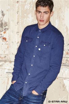 G-Star Indigo Landoh Long Sleeve Shirt