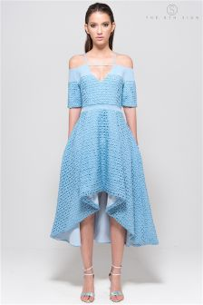 The 8th Sign Blue Hibiscus Dress