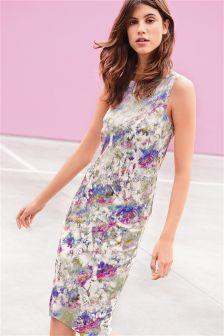 Foil Print Dress