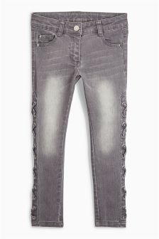Lace-Up Side Skinny Jeans (3-16yrs)