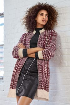 Longline Dogtooth Coat