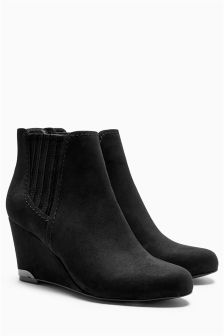 Chelsea Wedge Ankle Boots