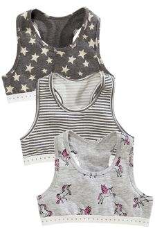 Unicorn Crop Tops Three Pack (Older Girls)