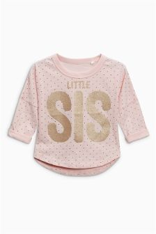 Little Sister Glitter T-Shirt (3mths-6yrs)