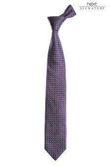 Signature Italian Diamond Pattern Tie