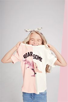 Roarsome Spliced T-Shirt (3-16yrs)