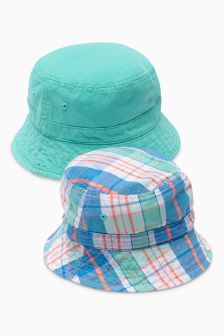 Check Fisherman's Hats Two Pack (Younger Boys)