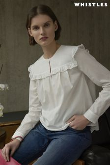 Whistles Ivory Juliet Swing Blouse