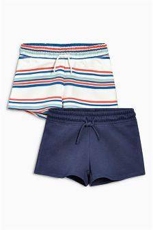Stripe/Blue Shorts Two Pack (3-16yrs)