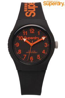 Black Superdry Black Orange Watch