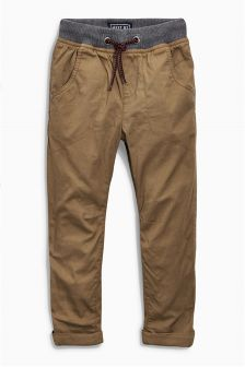 Rib Waist Lined Pull-On Trousers (3-16yrs)