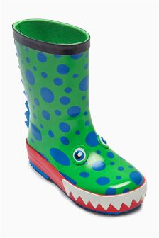 Green Monster Welly (Younger Boys)
