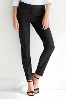 Black Workwear Skinny Trousers