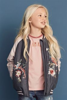 Embroidered Raglan Bomber (3-16yrs)