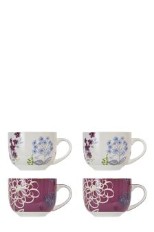 Set Of 4 Peony Mugs