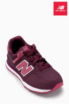 New Balance Burgundy Metallic 574