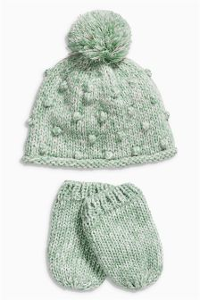 Hat And Mitts Set (0mths-2yrs)