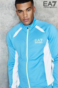 Blue EA7 Ventus Full Zip Top
