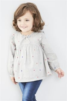 Spot Blouse (3mths-6yrs)