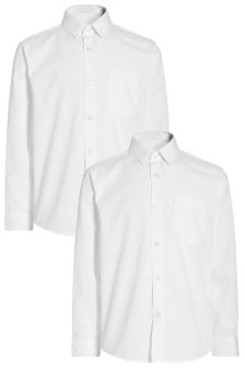 Long Sleeve Shirts Two Pack (3-16yrs)