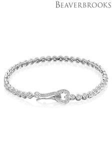 Beaverbrooks Silver Cubic Zirconia Heart Bracelet