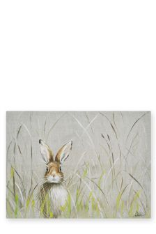 Hare In Meadow Canvas
