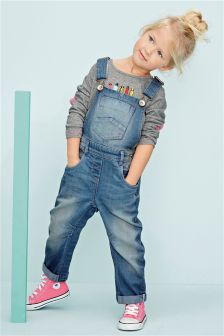 Blue Denim Dungarees (3mths-6yrs)