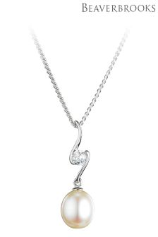 Beaverbrooks Silver Freshwater Pearl Pendant