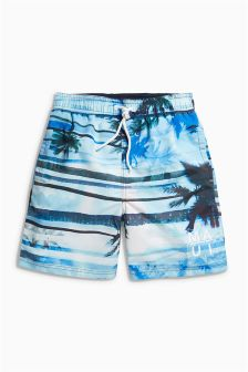 Hawaiian Stripe Swim Shorts (3-16yrs)