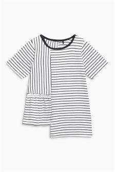 Stripe Asymmetric T-Shirt (3mths-6yrs)