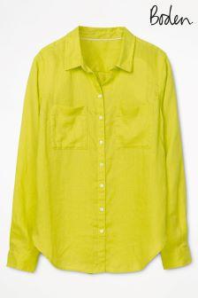 Boden Citrus Linen Shirt