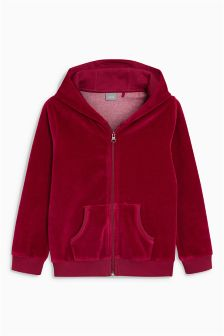 Velour Zip Through Hoody (3-16yrs)