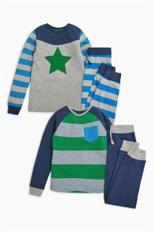 Star And Stripe Pyjamas Two Pack (3-16yrs)