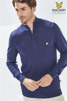Lyle & Scott Golf Navy Tolmont Zip Jumper