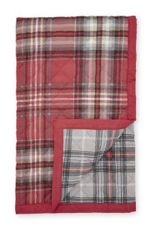 Red Check Printed Reversible Throw
