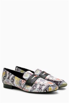 Printed Loafers