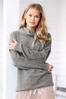 Grey Grey Fleece Top