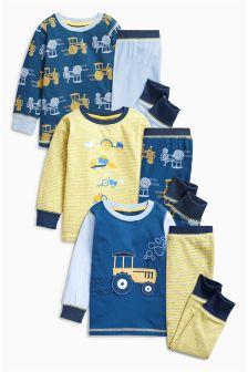 Tractor Pyjamas Three Pack (9mths-8yrs)