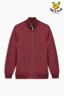 Lyle & Scott Burgundy Zip Through Sweat