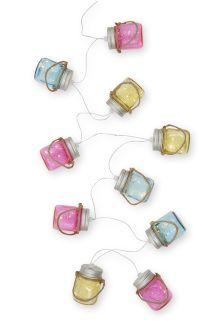 Solar Bright Embossed Jar Line Lights