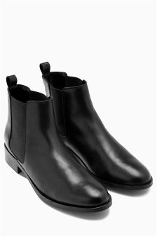 Black Forever Comfort Chelsea Ankle Boots
