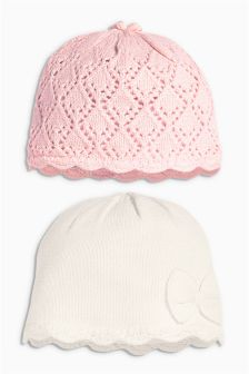 Knit Hats Two Pack (0mths-2yrs)