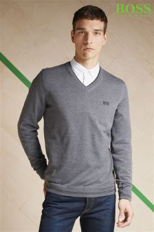 Boss Green V-Neck Knit Jumper