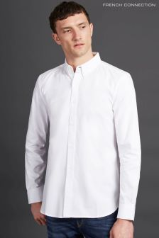 French Connection White Classic Soft Oxford Shirt