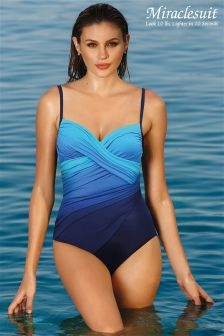 Miraclesuit Blue Centrefold Hidden Underwire Swimsuit
